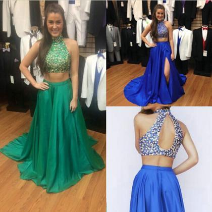 Two Pieces Prom Dresses, Prom Dress..