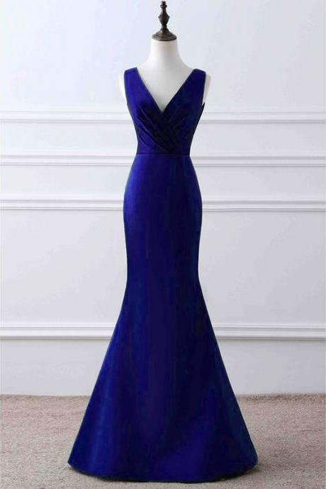 Prom Dresses, Mermaid Prom Dresses, Royal Blue Prom Dress, Long Prom Dresses, Royal Blue Evening Gowns , Evening Dresses 2017, Prom Party Dress, Wedding Party Dresses, 2017 Prom Dresses, Custom Made