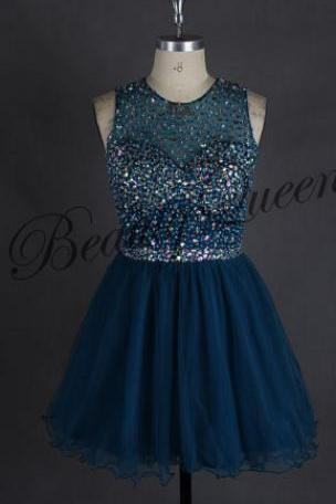 Homecoming Dresses,Dark Navy Blue Homecoming Dress,Dark Blue Homecoming Dress,2016,Short Prom Dress,Short Homecoming Dress,Sexy Short Prom Dress with Beadings,Graduation Dress,Short Party Dress